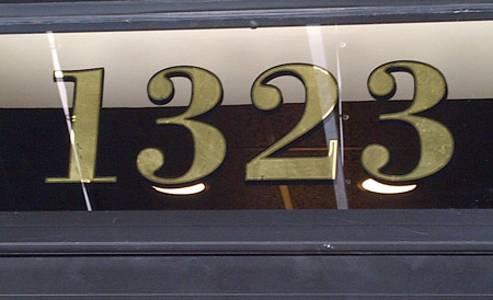 geniune gold leaf transom numbers