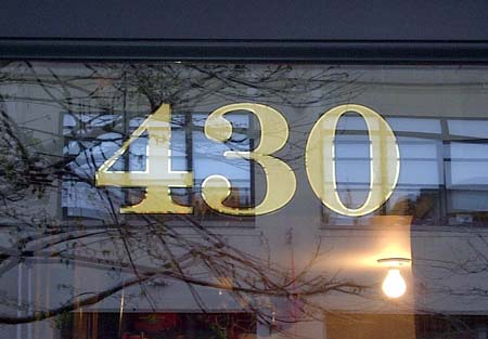 gold leaf transom numbers