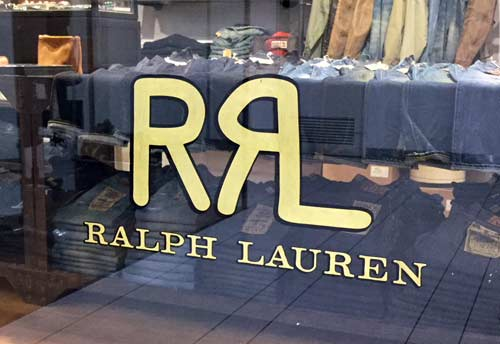 Gold leaf window lettering